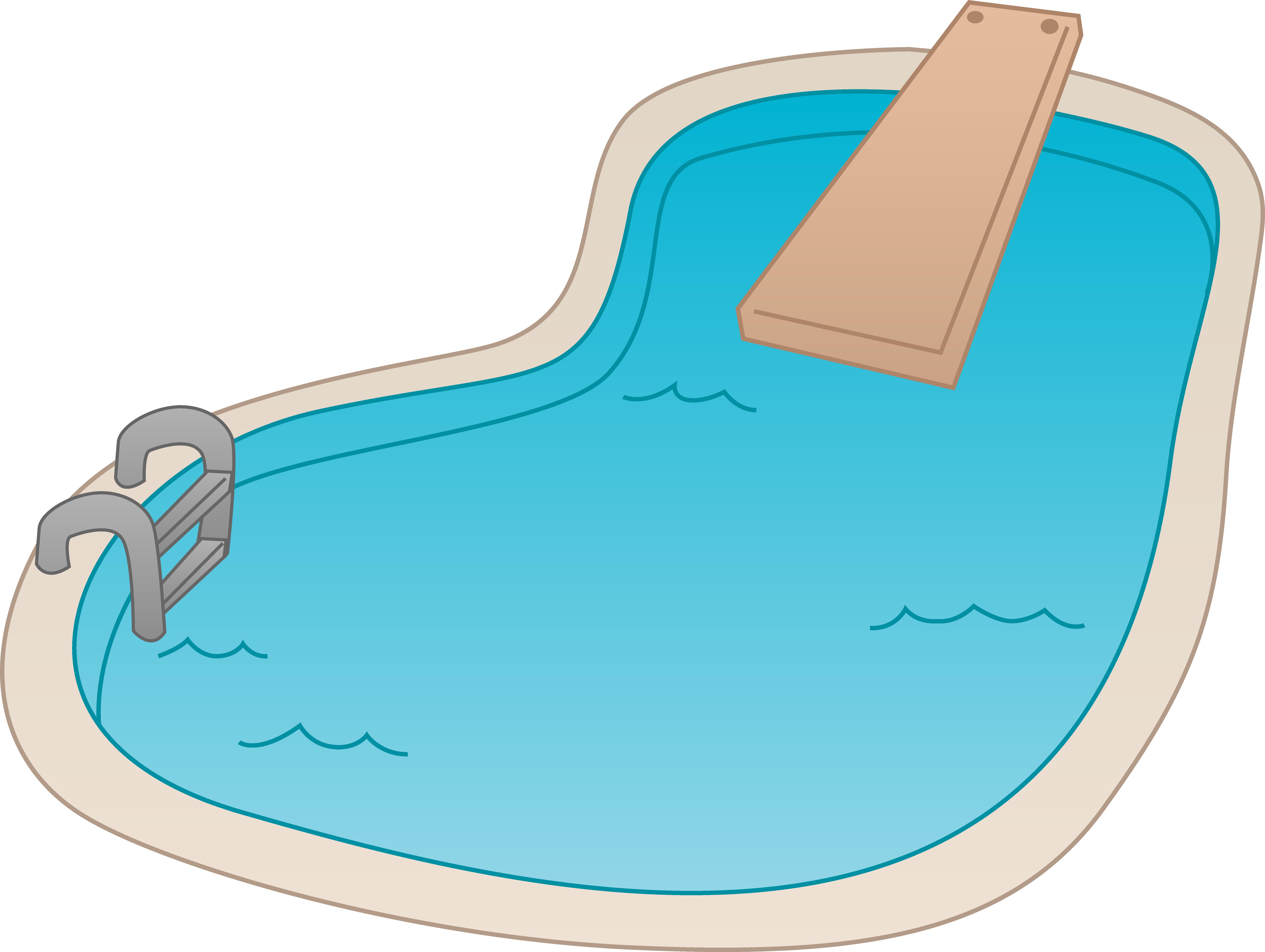 8339x6274 Swimming Pool Cartoon Clipart