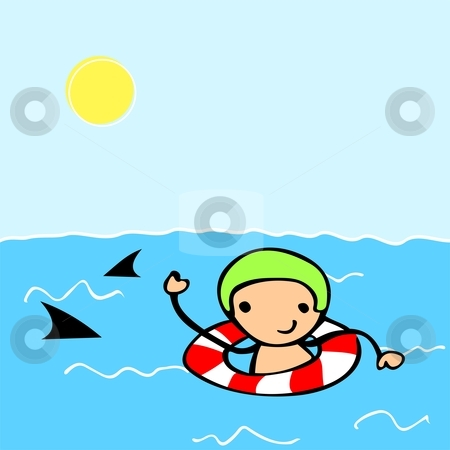450x450 Swimming In The Ocean Clipart