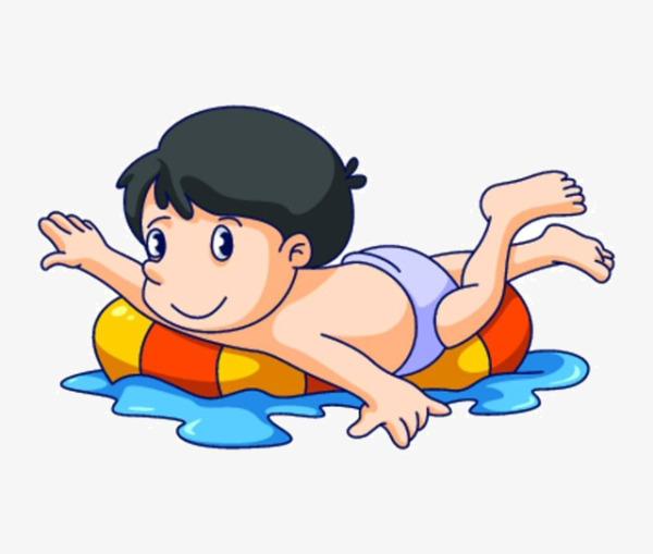 600x509 Cartoon Girl Swimming, Cartoon, Girl Swimming, Life Buoy Png Image