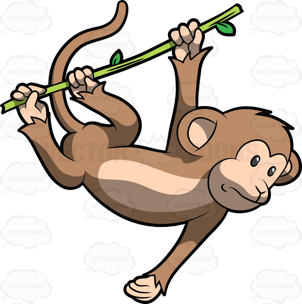 Swinging Monkey Clipart