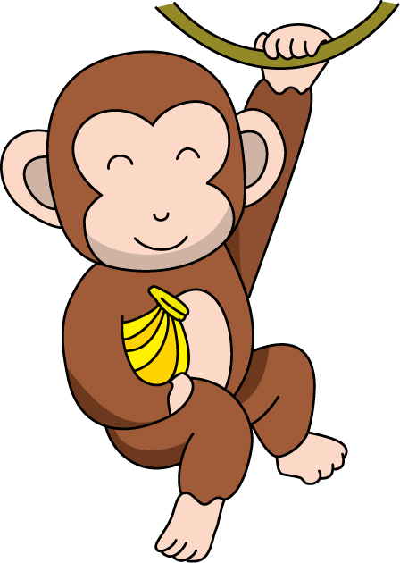 448x630 Colorful Clipart Monkey