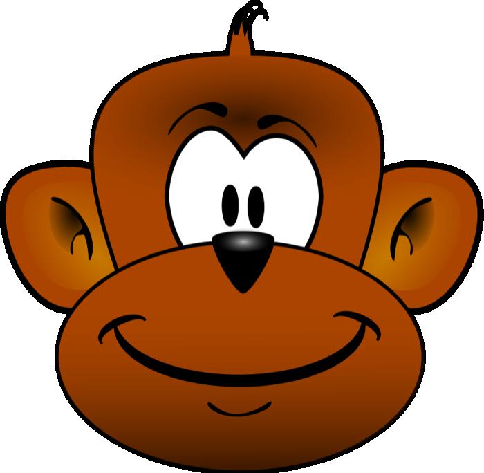 700x684 Monkey Face Clip Art