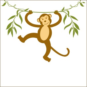300x300 Monkey Vinyl Wall Decal From Stencils And Decals