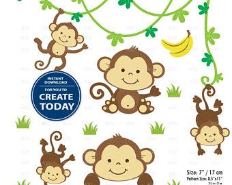 340x270 Monkey Clip Art Etsy
