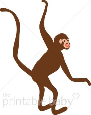 309x388 Swinging Monkey Clipart Jungle Baby Clipart