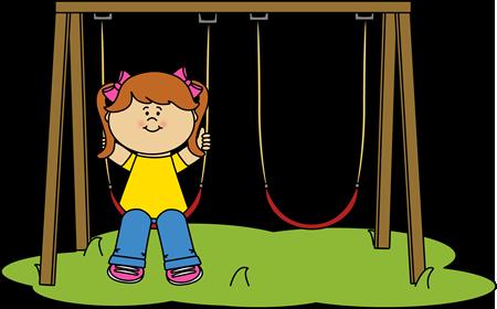 450x280 Girl Swinging Clip Art