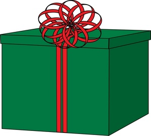 300x269 Box Clipart Wrapped Present