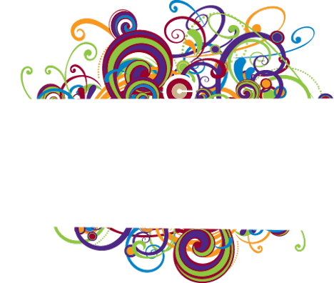 468x396 Colorful Swirl Border (Psd) Officialpsds