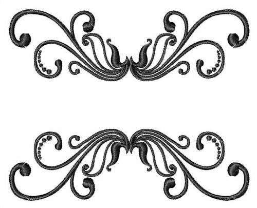 500x405 Embellishments Embroidery Design Swirl Border From Windmill Designs