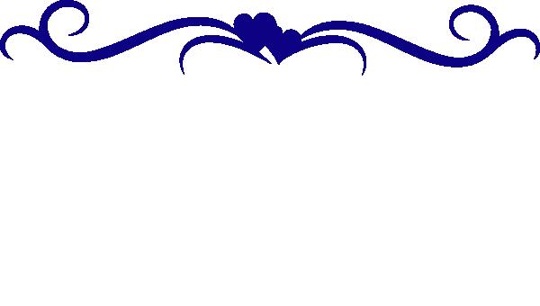 600x340 Hibiscus Swirl Border Clip Art