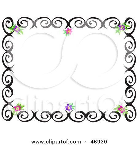 450x470 Royalty Free (Rf) Clipart Illustration Of A Black Swirl