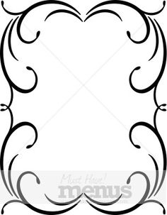 236x303 Swirl Border Clip Art