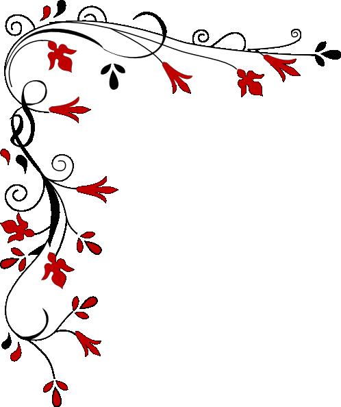 498x594 Swirl Border Clip Art