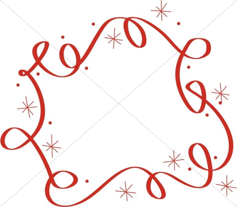 776x678 Swirls And Stars Border Religious Christmas Clipart