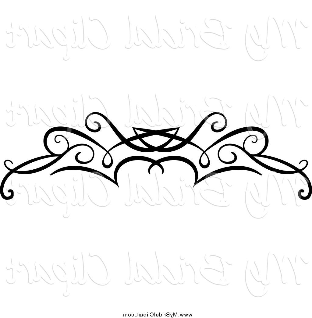 1024x1044 Top 10 Bridal Clipart Of Black Swirl Border Flourish By Vector