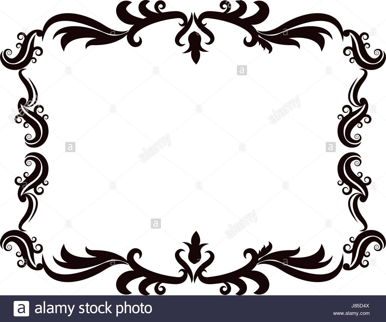 1300x1086 Vintage Baroque Frame Scroll Ornament Engraving Border Floral