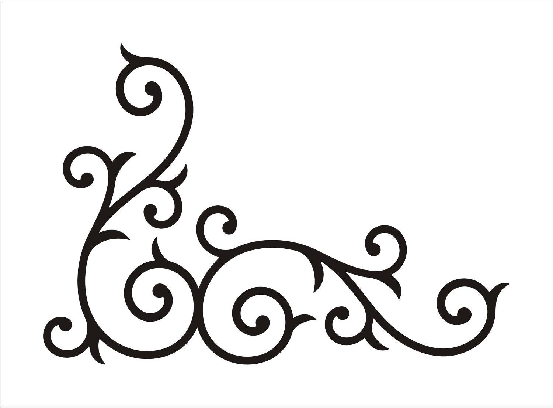 1500x1104 Wrought Iron Corner Swirl Medium By Abbysvinylwallart On Etsy