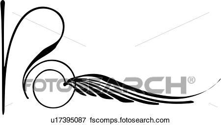 450x255 Clip Art Of , Pinstriping, Side Swirl, Swirl, U17395087