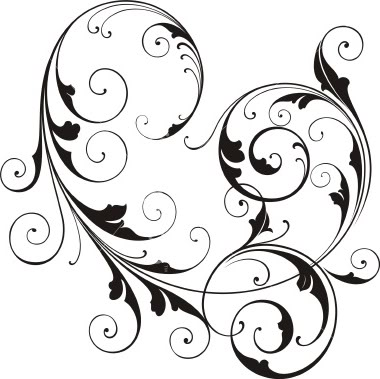 Swirl Line Art