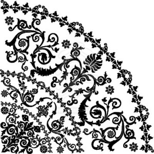 300x300 Free Swirly Floral Vector Clip Art Freevectors