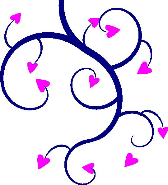 540x595 Swirl Hearts Clip Art