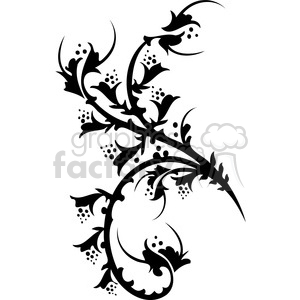 300x300 Royalty Free Chinese Swirl Floral Design 051 386733 Vector Clip