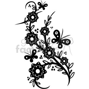 300x300 Royalty Free Chinese Swirl Floral Design 062 386735 Vector Clip