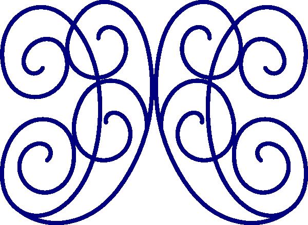 600x439 Swirl Blue Clip Art