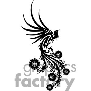 300x300 Phoenix Clipart Chinese Swirl Floral Design 079 Everything