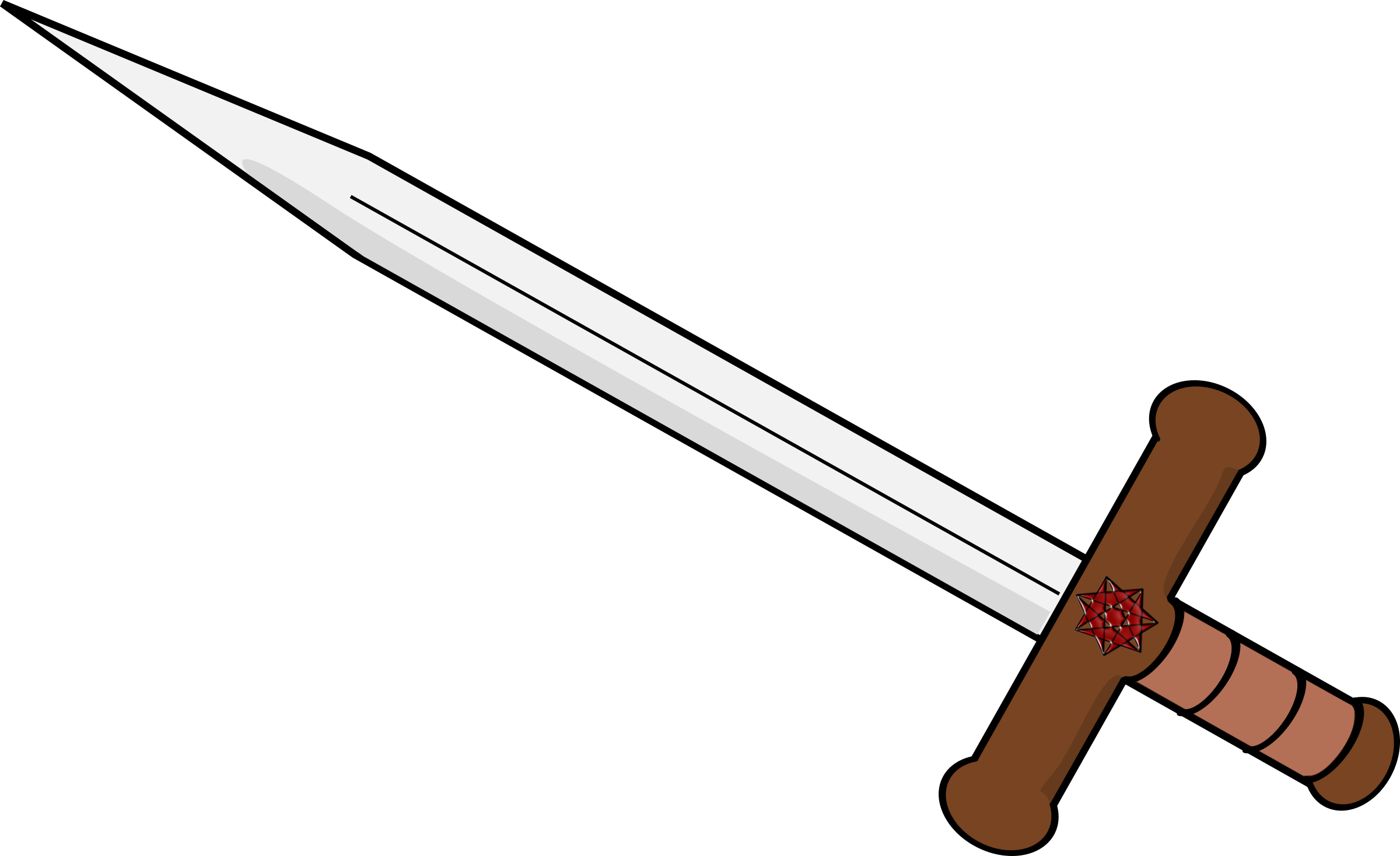 2400x1468 Sword Clipart Double Edged Sword