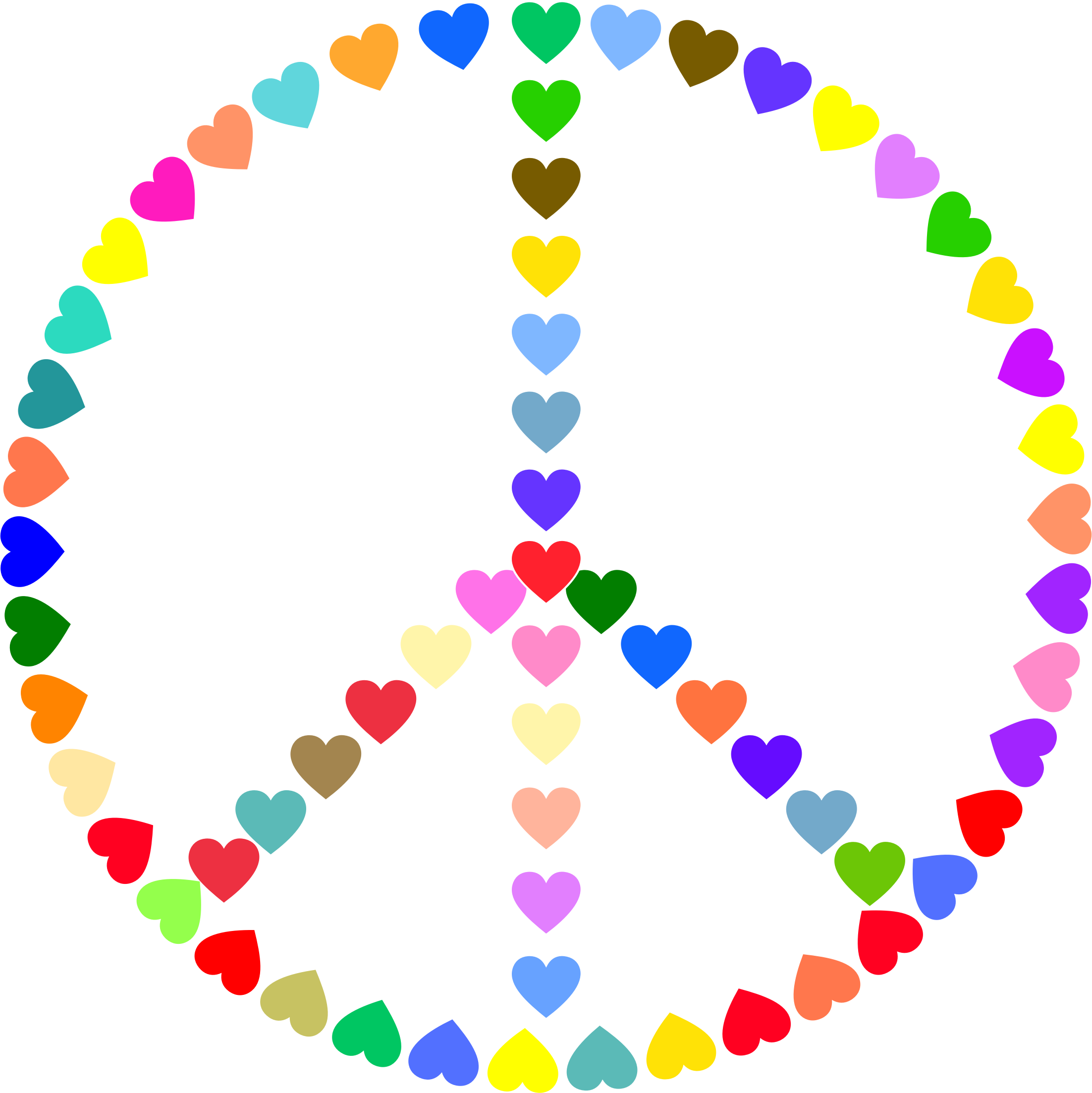 2204x2206 Peace And Love Clipart