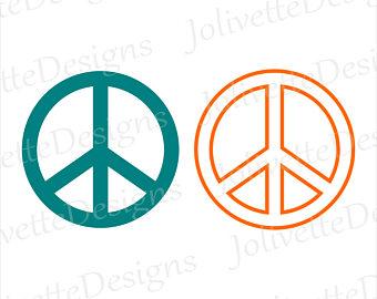 340x270 Peace Sign Clip Art Etsy