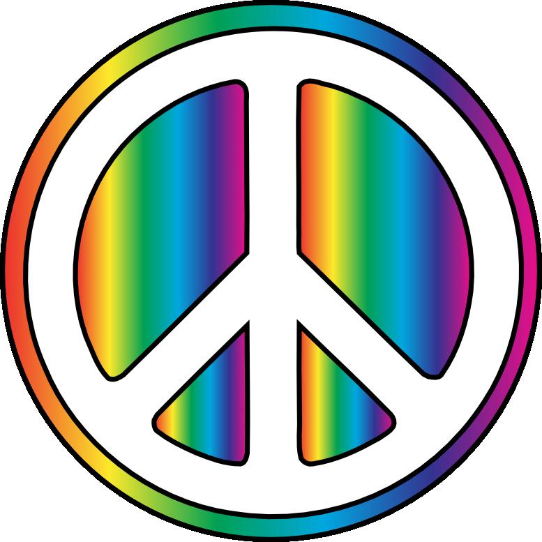 777x777 Peace Sign Clip Art 2