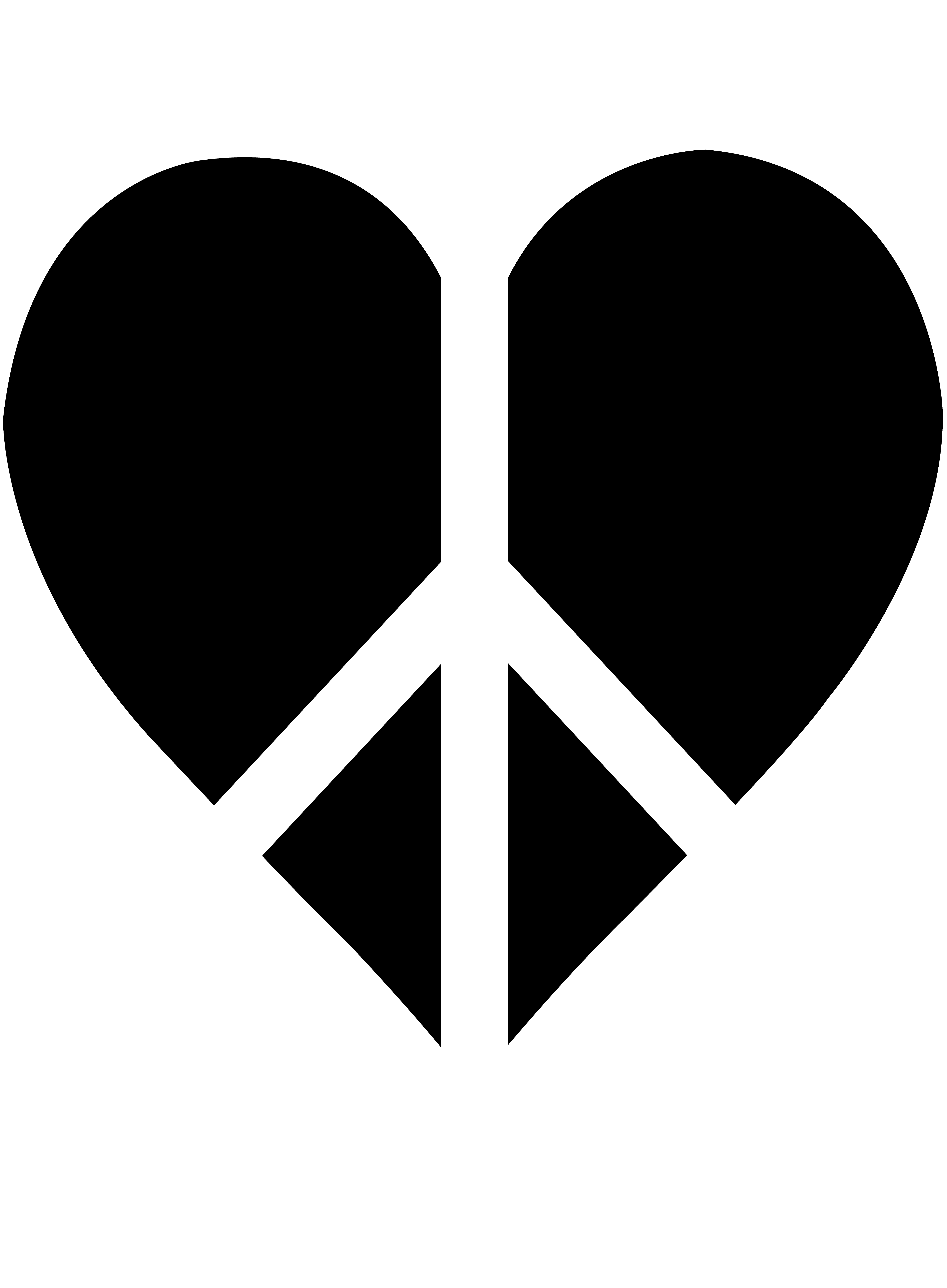 4523x6150 Black Peace Heart Logo