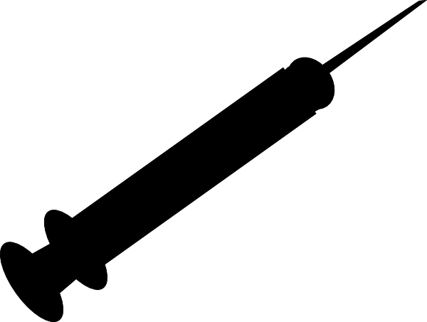 600x453 Black Needle Clip Art
