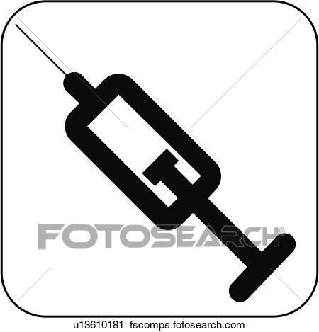 450x469 Stock Photography Of Syringe Symbol, Artwork U13610181
