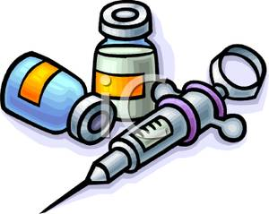 300x239 Syringe And Two Bottles Of Medicine Clipart Picture
