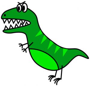 300x286 Dinosaur Cartoon Angry Clip Art Download