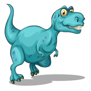 300x300 Tyrannosaurus Rex With Sharp Teeth Illustration Royalty Free Stock