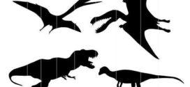 272x125 Dino Svg, Dinosaur Svg Silhouette Clipart, Tyrannosaurus Rex Svg