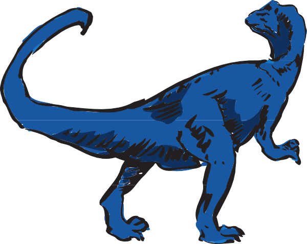 600x478 Blue T Rex Art Clip Art