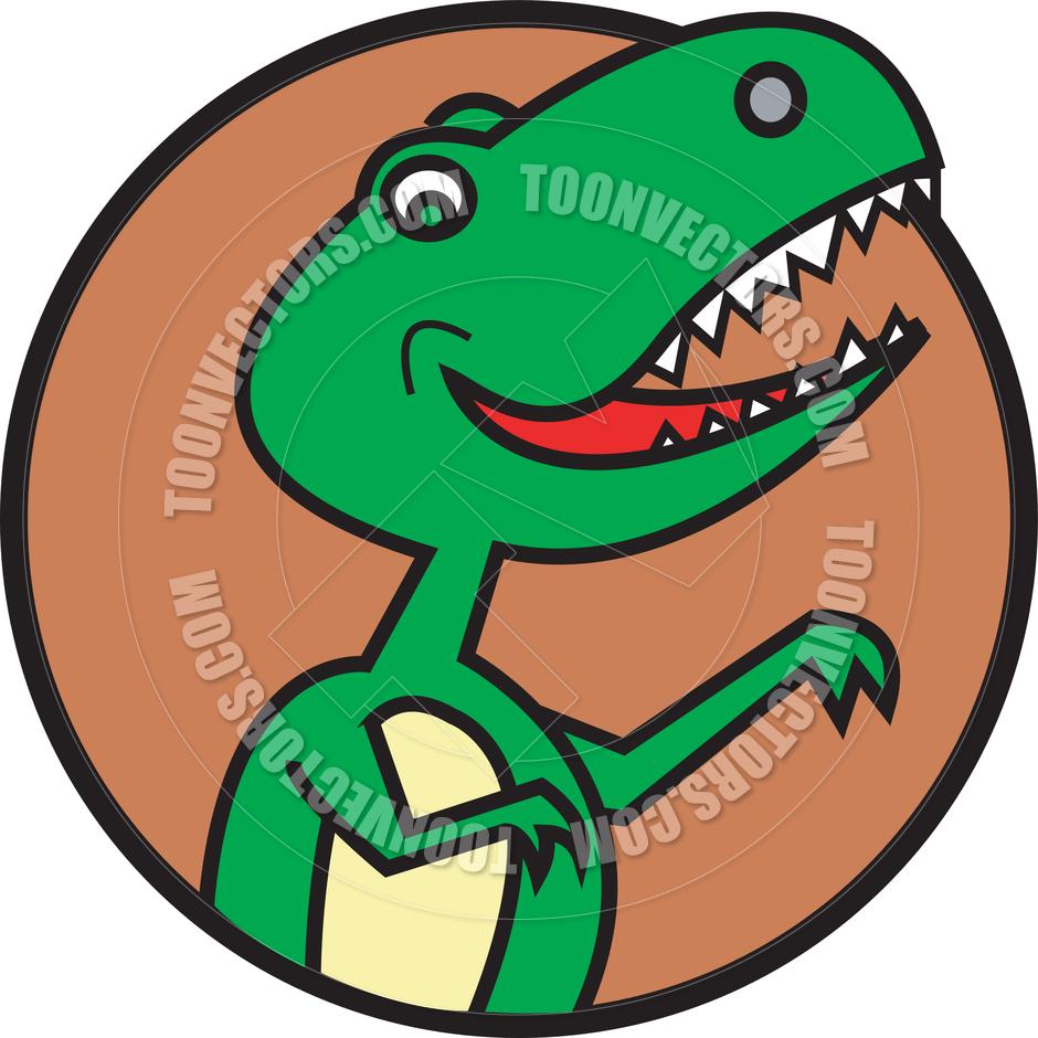 940x940 Cartoon T. Rex Dinosaur Vector Illustration By Clip Art Guy Toon