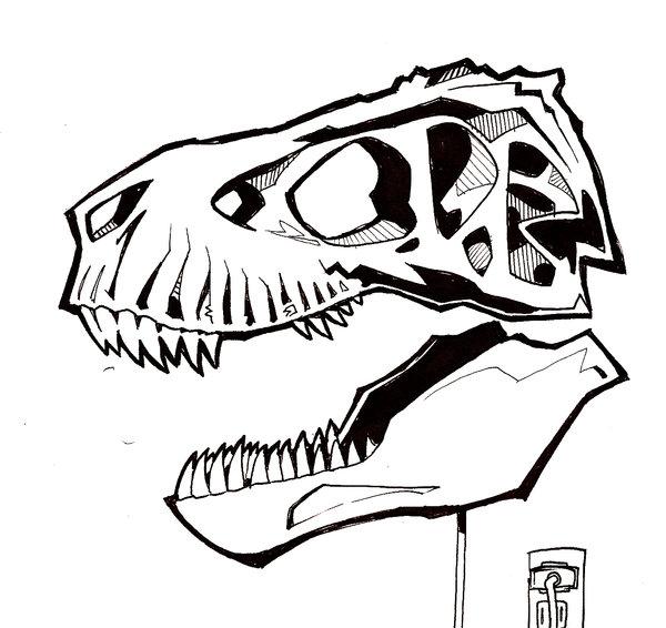 T Rex Outline