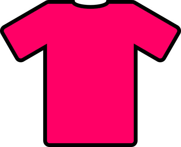 600x486 Pink T Shirt Clip Art Free Vector 4vector