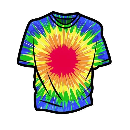 530x530 T Shirt Tie Dye Shirt Clipart