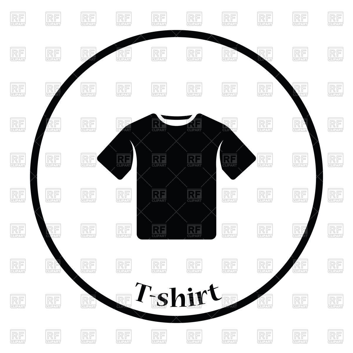 1200x1200 Thin Circle Design Of T Shirt Icon Royalty Free Vector Clip Art