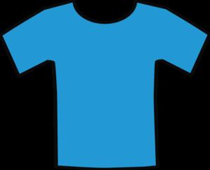 299x243 Blue T Shirt Clip Art