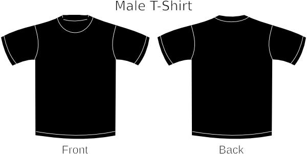 600x301 Image Of Black T Shirt Clipart