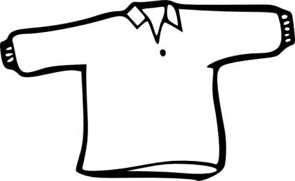 425x261 Shirt Outline Clip Art Vector, Free Vector Graphics
