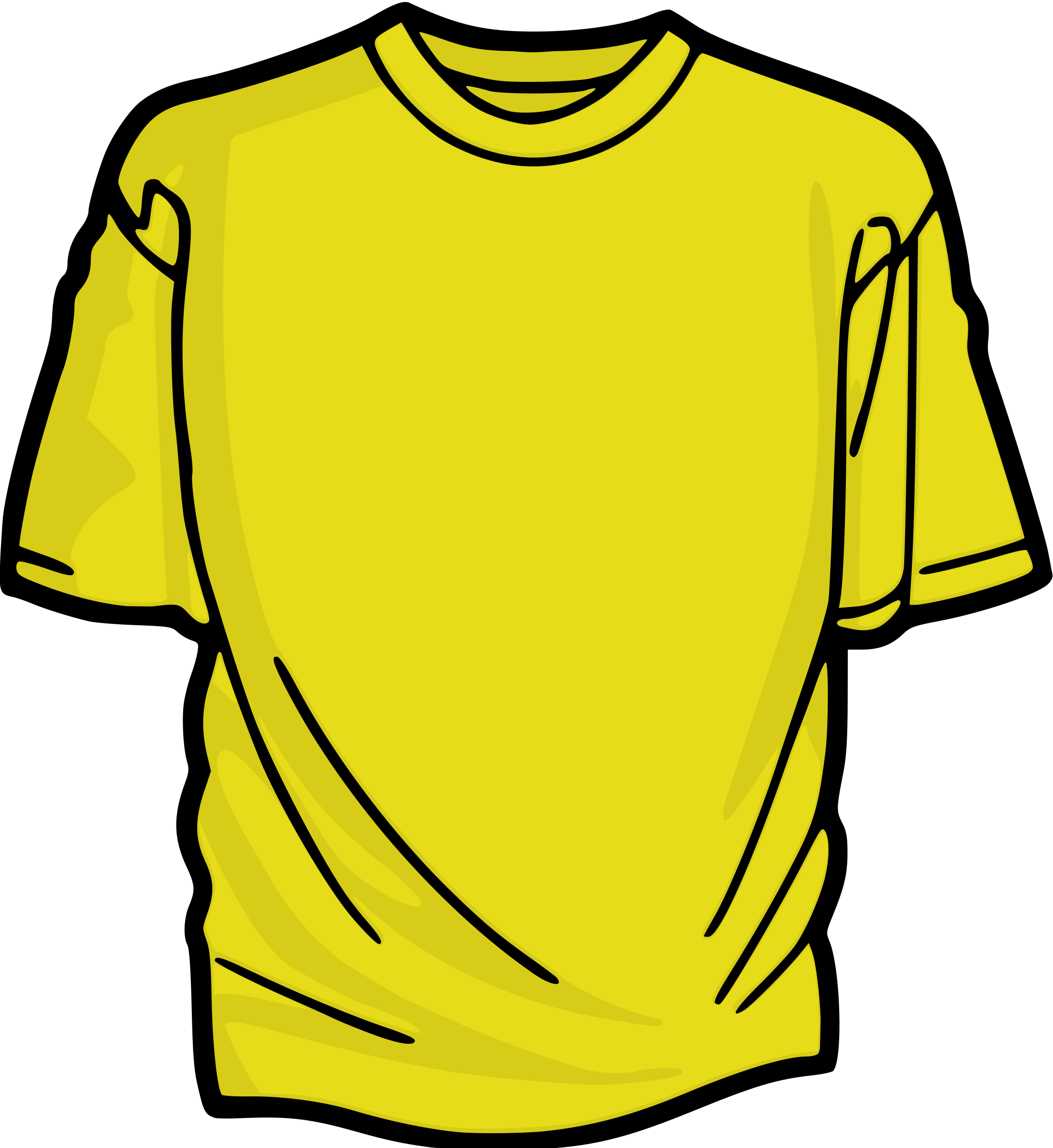 2201x2400 Shirt Clipart Colored